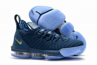 Nike Lebron James 16 Air Cushion Shoes Philippines Blue Gold