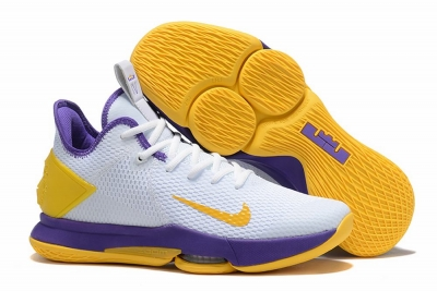 Nike Lebron James Witness 4 Shoes White Yellow